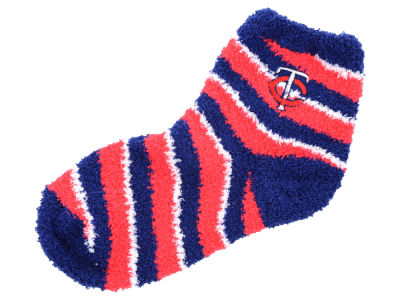 Minnesota Twins For Bare Feet Sleep Soft Candy Stripe Sock