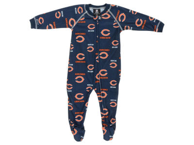 Chicago Bears Outerstuff NFL Infant Raglan Zip Up Coverall Sleeper