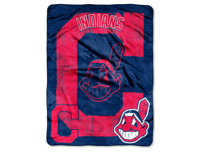 Cleveland Indians Micro Raschel 46x60 Triple Play