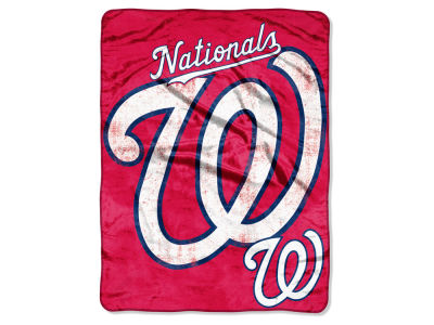 Washington Nationals Micro Raschel 46x60 Triple Play