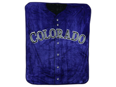 Colorado Rockies 50x60in Plush Throw Jersey