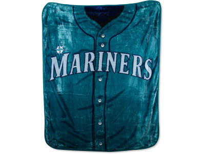 Seattle Mariners 50x60in Plush Throw Jersey