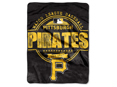 Pittsburgh Pirates Micro Raschel 46inch x 60inch Structure Blanket