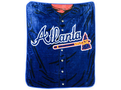 Atlanta Braves 50x60in Plush Throw Jersey