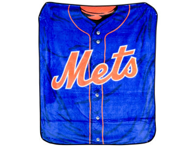 New York Mets 50x60in Plush Throw Jersey