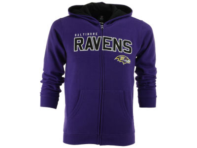 Baltimore Ravens NFL Youth Stated Full Zip Hoodie