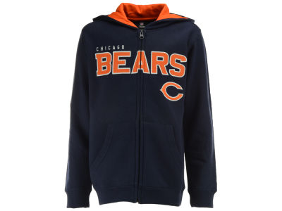 Chicago Bears Outerstuff NFL Youth Stated Full Zip Hoodie