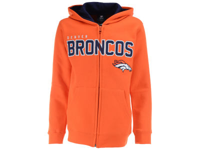 Denver Broncos Outerstuff NFL Youth Stated Full Zip Hoodie
