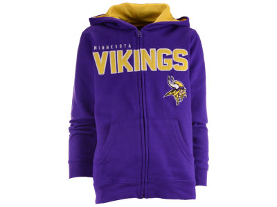 Minnesota Vikings NFL Youth Stated Full Zip Hoodie