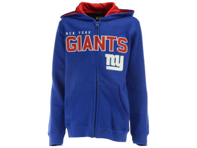 New York Giants NFL Youth Stated Full Zip Hoodie
