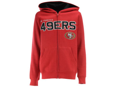 San Francisco 49ers NFL Youth Stated Full Zip Hoodie