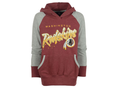 Washington Redskins NFL Youth Girls Crafted Burnout Raglan Hoodie