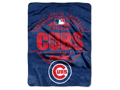 Chicago Cubs Micro Raschel 46inch x 60inch Structure Blanket