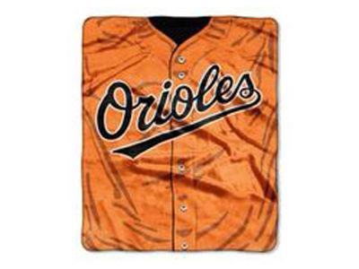 Baltimore Orioles 50x60in Plush Throw Jersey