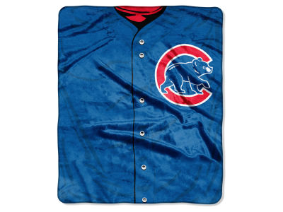 Chicago Cubs 50x60in Plush Throw Jersey