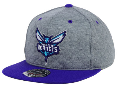 Charlotte Hornets Mitchell and Ness NBA Quilted Road 2 Tone Fitted Cap