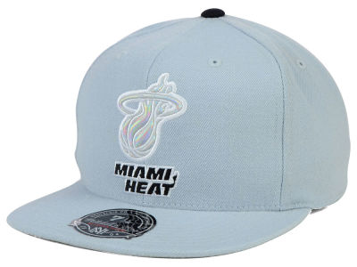 Miami Heat Mitchell and Ness NBA The Foils Fitted Cap