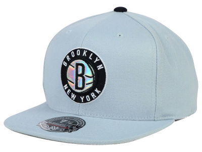 Brooklyn Nets Mitchell and Ness NBA The Foils Fitted Cap