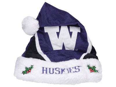 Washington Huskies Color Block Santa Hat