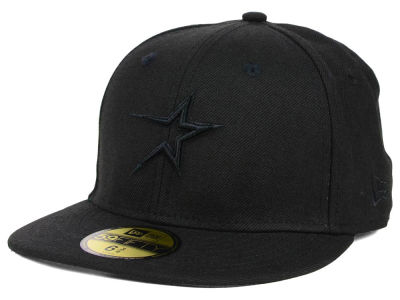 Houston Astros New Era MLB Triple Black 59FIFTY Cap
