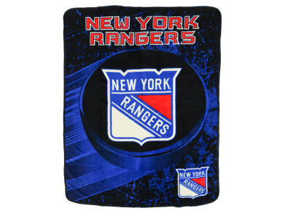 "New York Rangers Micro Raschel 46x60 ""Ice Dash"""