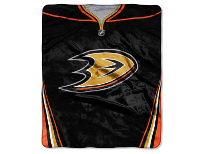 Anaheim Ducks 50x60in Plush Throw Jersey