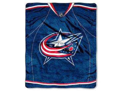 Columbus Blue Jackets 50x60in Plush Throw Jersey