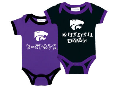Kansas State Wildcats NCAA Newborn 2 Pack Contrast Creeper