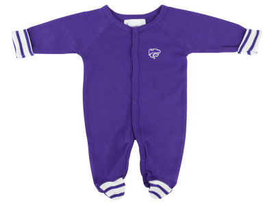 Kansas State Wildcats NCAA Newborn Footed Stripe Creeper