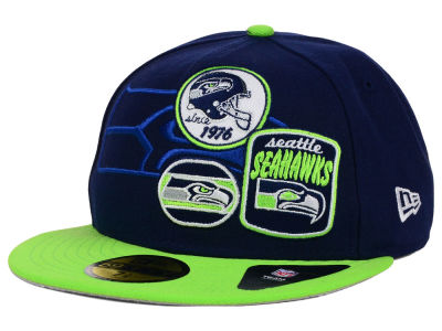 Seattle Seahawks New Era NFL Patch Batcher 59FIFTY Cap