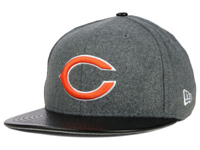 Chicago Bears New Era NFL Leather Melton 59FIFTY Cap