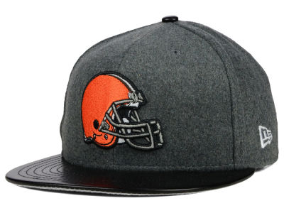 Cleveland Browns New Era NFL Leather Melton 59FIFTY Cap