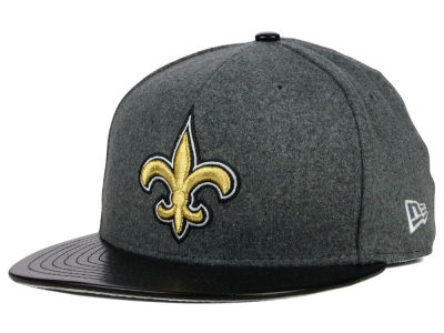 New Orleans Saints New Era NFL Leather Melton 59FIFTY Cap