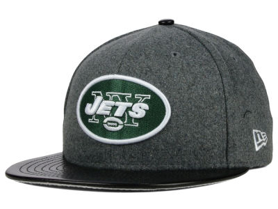 New York Jets New Era NFL Leather Melton 59FIFTY Cap