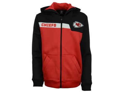 Kansas City Chiefs NFL Youth Resilient Performance Full Zip Hoodie