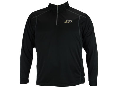 Purdue Boilermakers NCAA Men's Poly Mesh 1/4 Zip Pullover Shirt
