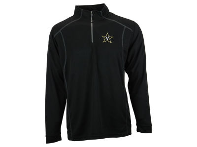 Vanderbilt Commodores NCAA Men's Poly Mesh 1/4 Zip Pullover Shirt