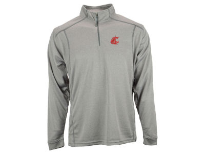 Washington State Cougars NCAA Poly Mesh 1/4 Zip Up Pullover Shirt