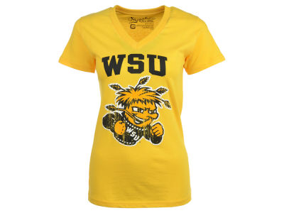 Wichita State Shockers Pressbox NCAA Womens Fango Melange Crew T-Shirt