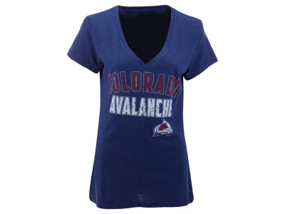 Colorado Avalanche GIII NHL Womens Slub V-Neck Hockey T-Shirt
