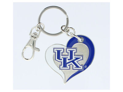 Kentucky Wildcats Swirl Heart Keychain