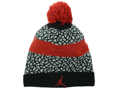 Jordan Jumpman Striped Beanie Knit