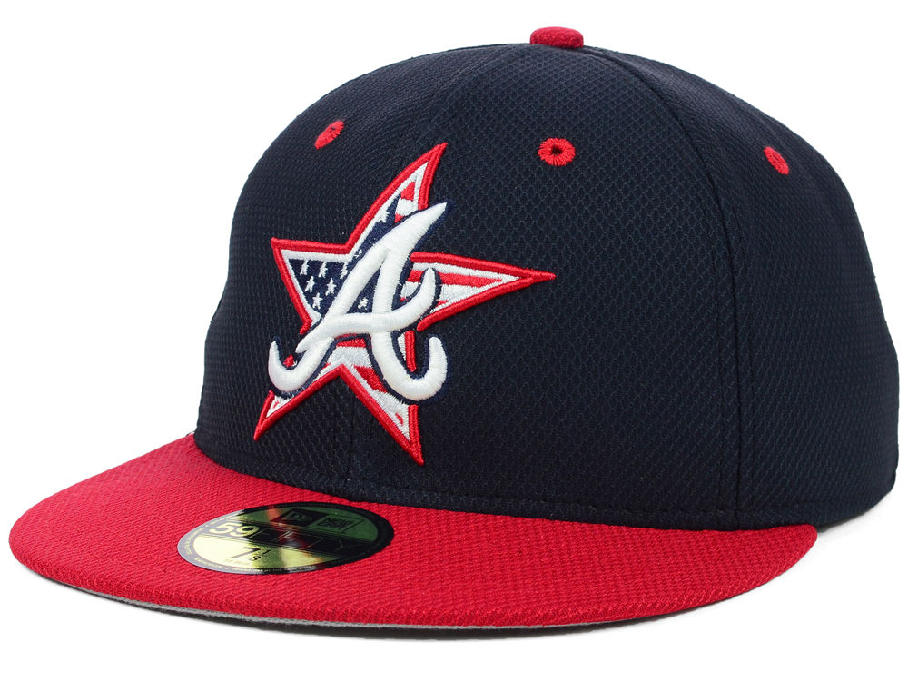 e23eee1b506 Atlanta Braves New Era MLB 2014 AC July 4th Stars   Stripes 59FIFTY Cap