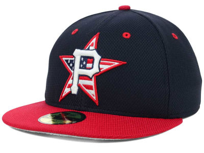 Pittsburgh Pirates New Era MLB 2014 AC July 4th Stars & Stripes 59FIFTY Cap