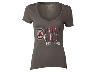 South Carolina Gamecocks Blue 84 NCAA Womens Magic Liquid T-Shirt