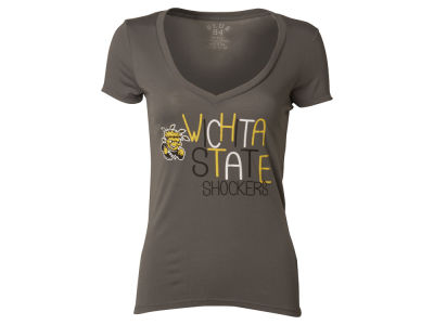 Wichita State Shockers Blue 84 NCAA Womens Magic Liquid T-Shirt