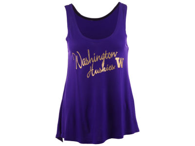 Washington Huskies Blue 84 NCAA Womens Bruno Liquid Tank