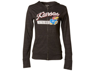 Kansas Jayhawks Blue 84 NCAA Women's Script Full Zip Hoodie
