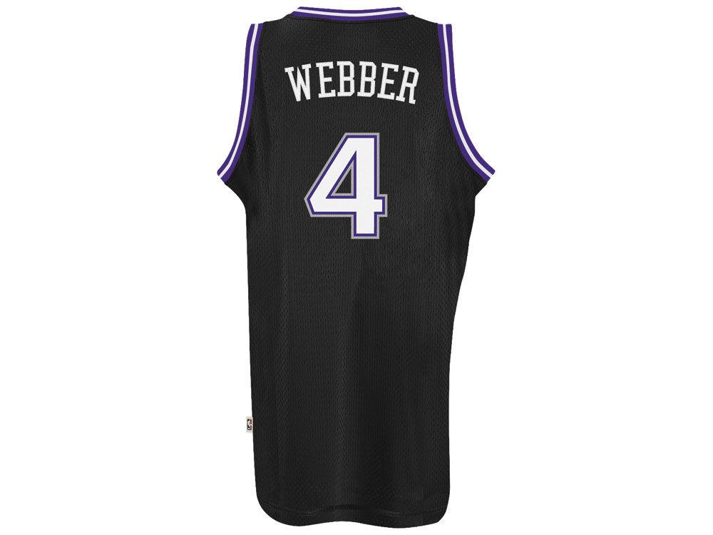 sacramento kings chris webber adidas nba mens retired player swingman jersey