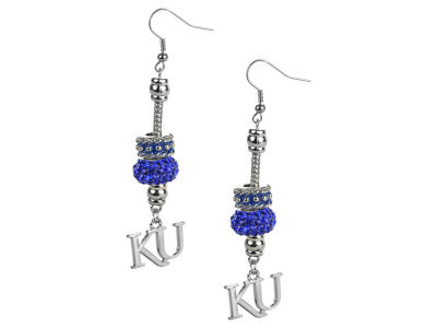 Kansas Jayhawks Beaded Earrings